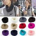 Мода новый женский зима теплая шерсти вязать поводка шарф платок шеи обернуть круг клобук 14 цветов