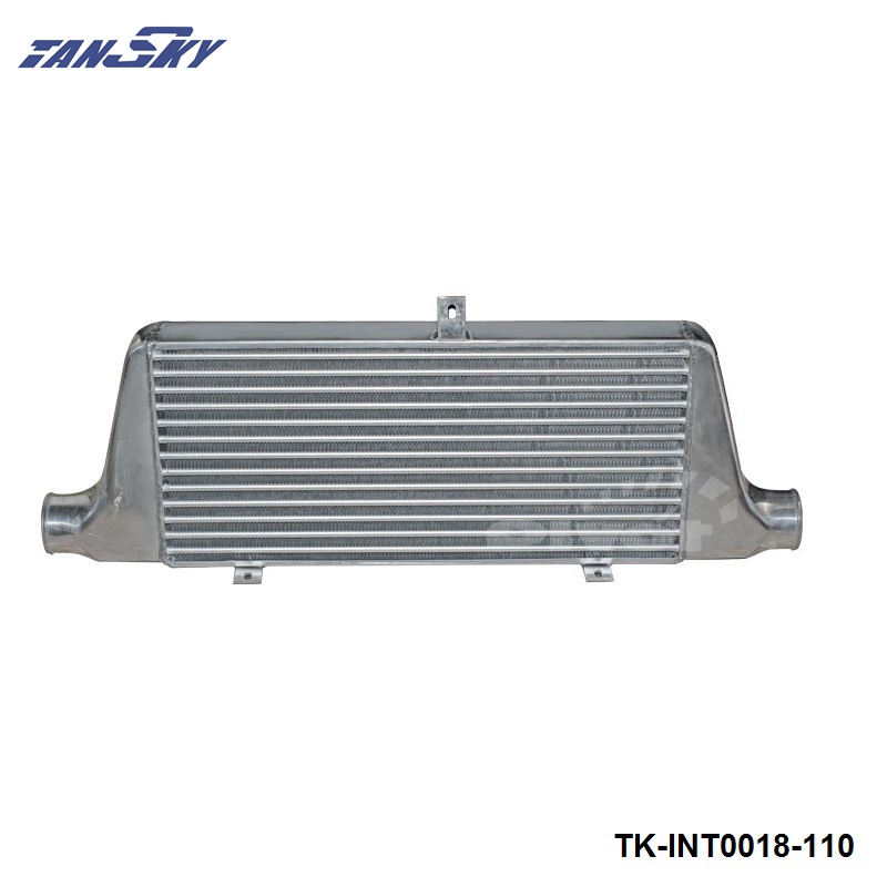 TANSKY - UNIVERSAL INTERCOOLER TYPE:Fin Turbo 76mm 600x280x76MM TK-INT0018-110 universal turbo boost intercooler pipe kit 3 76mm 8 pieces alloy piping blue