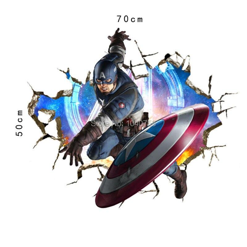 Aliexpresscom  Buy Avengers Superheroes Wall Stickers For Kids - Superhero wall decals for kids rooms