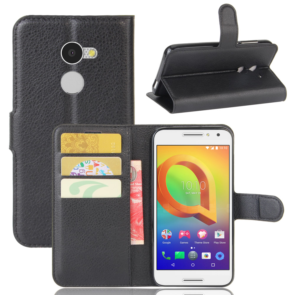 book style wallet leather Case for ALCATEL A3 5.0 INCH A5