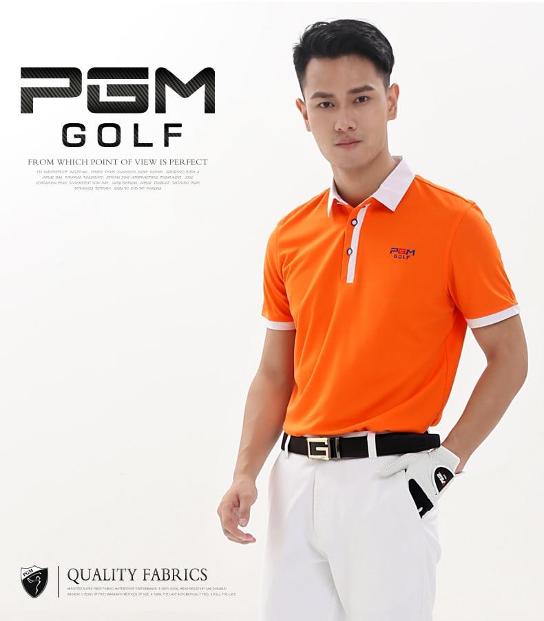 2017 Summer PGM Brand High Quality Outdoor Short Sleeve Polo Golf Shirt Men Quick Dry T-shirts Collar Cotton Golf Short Shirts