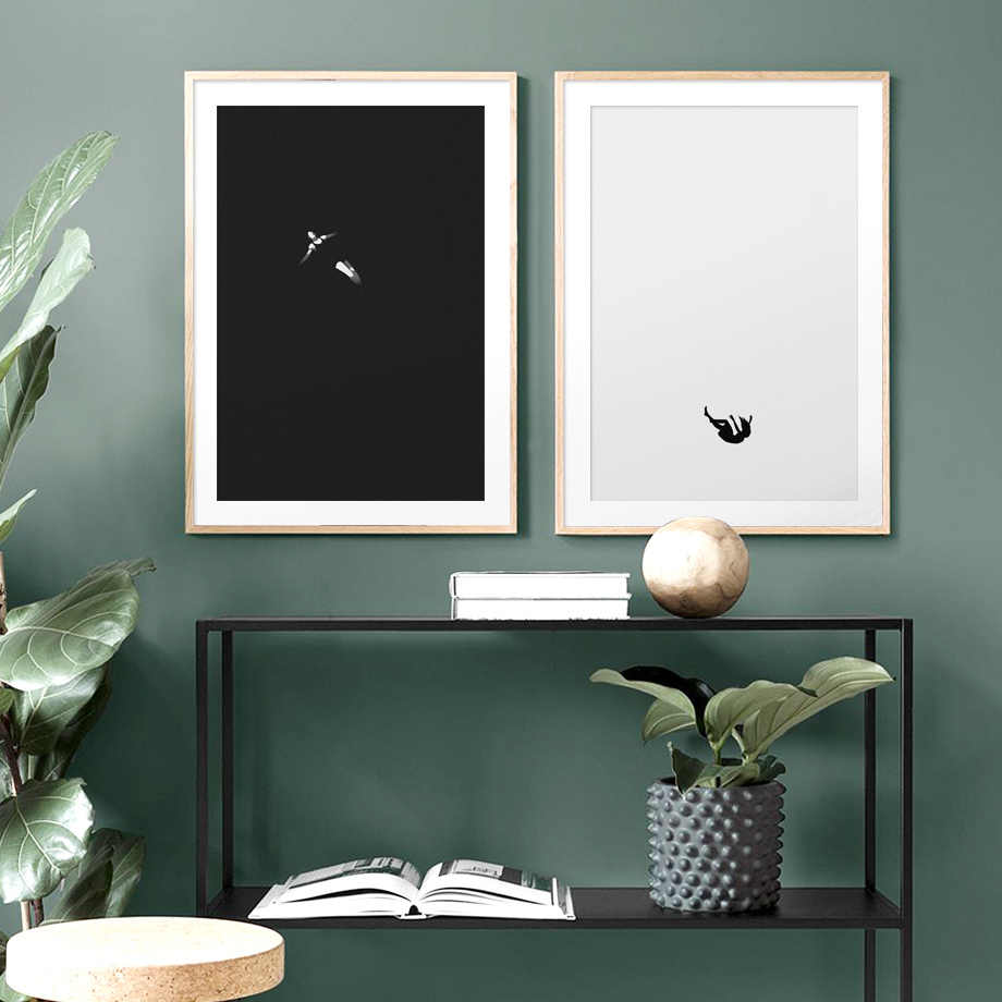 Wall Art Canvas Painting Abstract Girl Alone Meditation Art Prints Nordic Posters And Prints Wall Pictures For Living Room Decor