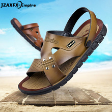 Cheap Men Sandals Casual Leather Comfortable Summer Shoes Breathable Soft Outdoor Beach For 2019