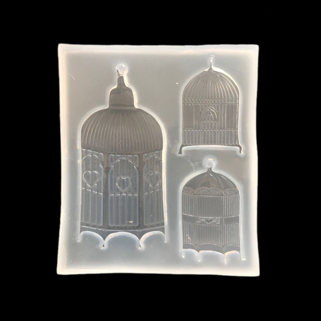 Bird Cages Jewelry Silicone Mold Fondant Mould Cake Decor Chocolate DIY Tools
