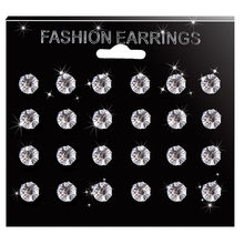 6/12 Pasang Anting-Anting Tindik Set Top Stainless Steel Prong Set Zirkon gadis Telinga Helix Lip Stud Earrings Wanita Fashion Jewelry R5(China)