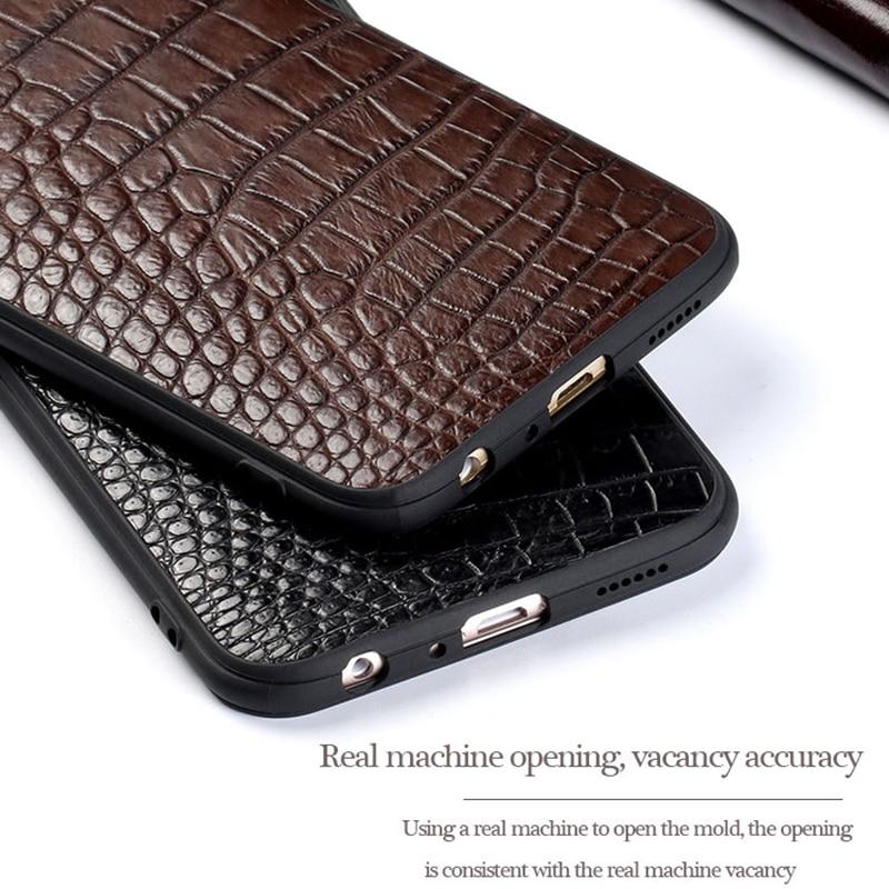 Per Compagno di 20 Genuine custodia In Pelle Telefono Per Huawei P10 P20 Lite Pro caso di Stile di Affari Triangolo Texture Per Mate 20 pro capa - 6