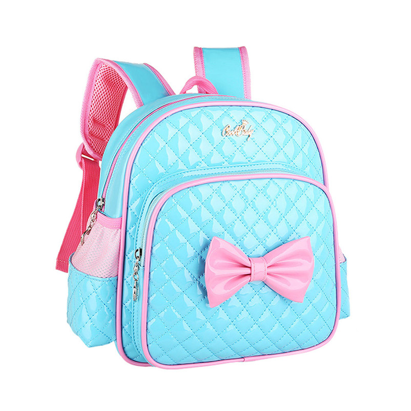 Girls Cute Backsacks 2017 Hot Sale Baby Kids Girls Bowknot Print Backpack School Bags Fashion Shoulder Bag Children Rucksacks A7