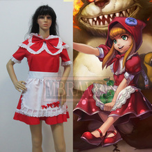 LOL Little Red Riding Hood Annie Cosplay Costume Free Shipping
