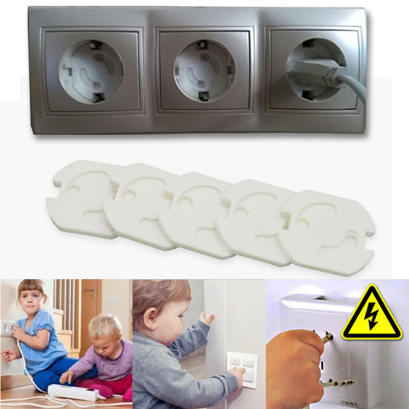 2 Hole EU Power Socket Electrical Outlet Baby Kid Child Safety Guard Protection Anti Electric Shock Plugs Protector Rotate Cover