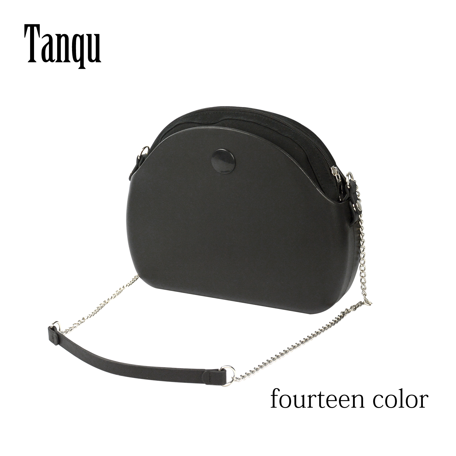 2019 Tanqu New O Bag Moon Light Body With Long Chain Waterproof  Inner Pocket Bag Rubber Silicon O Moon Light Obag Women Handbag