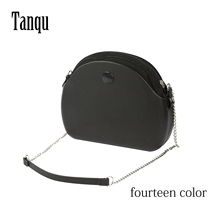 цена на 2019 Tanqu New O bag moon light Body with long chain waterproof  inner pocket bag rubber silicon O moon light Obag women handbag