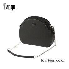Tanqu Bolso redondo con cadena larga impermeable para mujer, bolsa de mano de silicona de goma O luz de luna