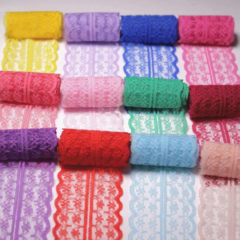 10m/lot 4.5cm Lace Trim Ribbon Fabric Sewing Knitting Clothes Dress DIY Material Handcrafted Gift Wrapping Wedding Decoration