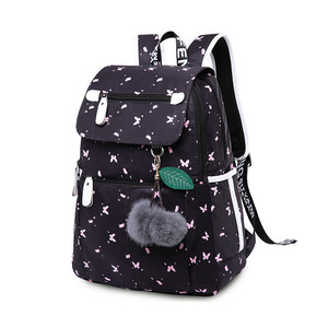 Image 5 - Школьные ранцы OKKID для девочек, женский рюкзак для ноутбука с usb разъемом, Детские рюкзаки, школьный ранец с милым котом для девочек