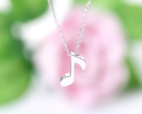 Musical Note Necklace for Women and Men