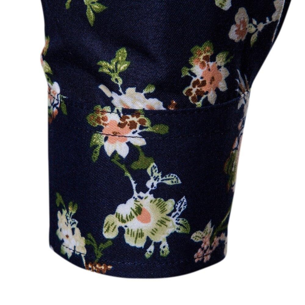 snowshine YLW Men's New Pattern Casual Fashion Lapel Printing Long Sleeved Shirt free shipping 6