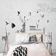 Factory direct Nordic brick wall hand-painted elk modern fashion sofa, bedroom, living room