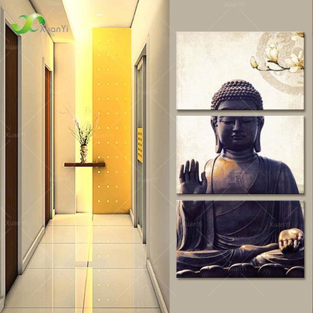 Modern Printed Buddha Buddhism Painting Canvas Cuadros Home Decor ...