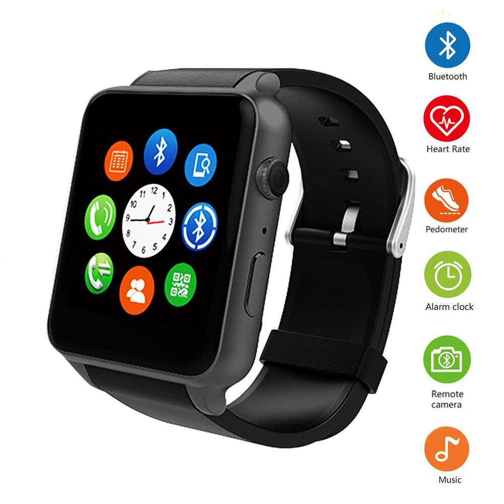 Smart Watch GT88 Bluetooth Smartwatch шагомер сердечного ритма трекер Поддержка SIM карты памяти для мужчин спортивные часы для IOS телефона Android