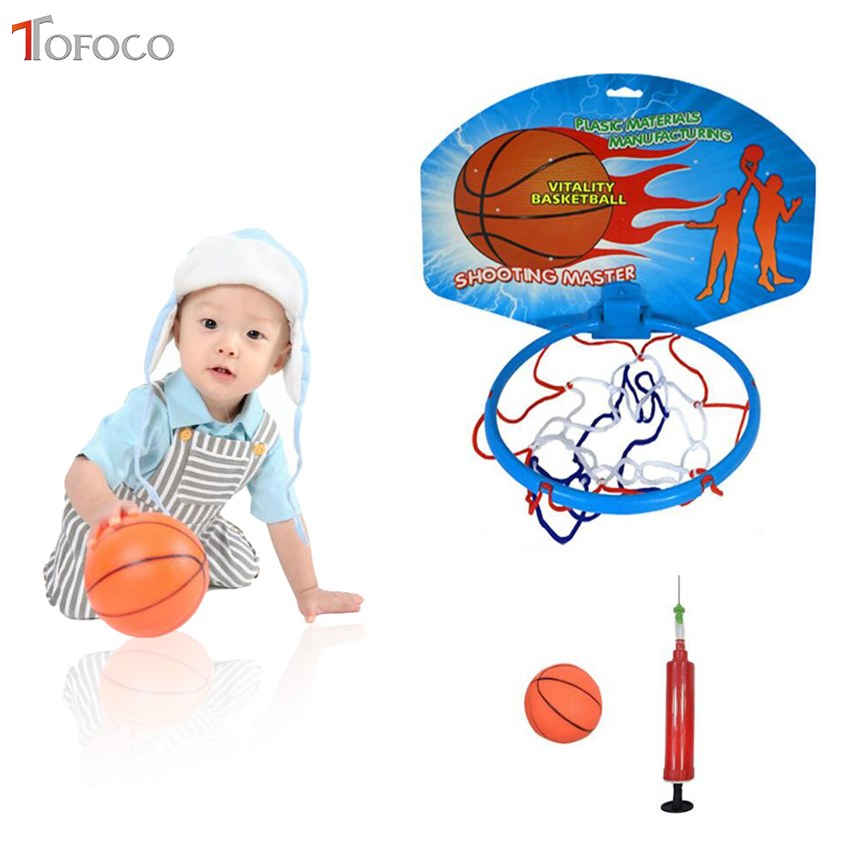 TOFOCO Fun Sports Toys For Children Basketball Hanging Adjujstable with Inflator Pump Toy Child Boys Outdoor Sports