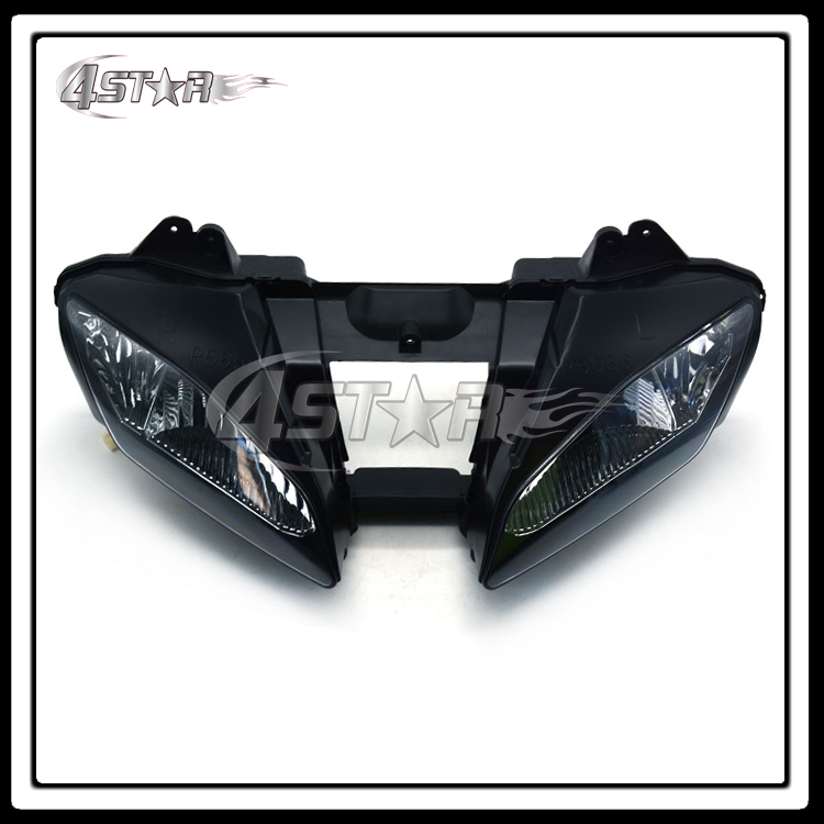Motorcycle Black Headlights Headlamps Head Lights Lamps Assembly For YZF600 YZF R6 YZF-R6 2006-2007 Supermoto Free Shipping