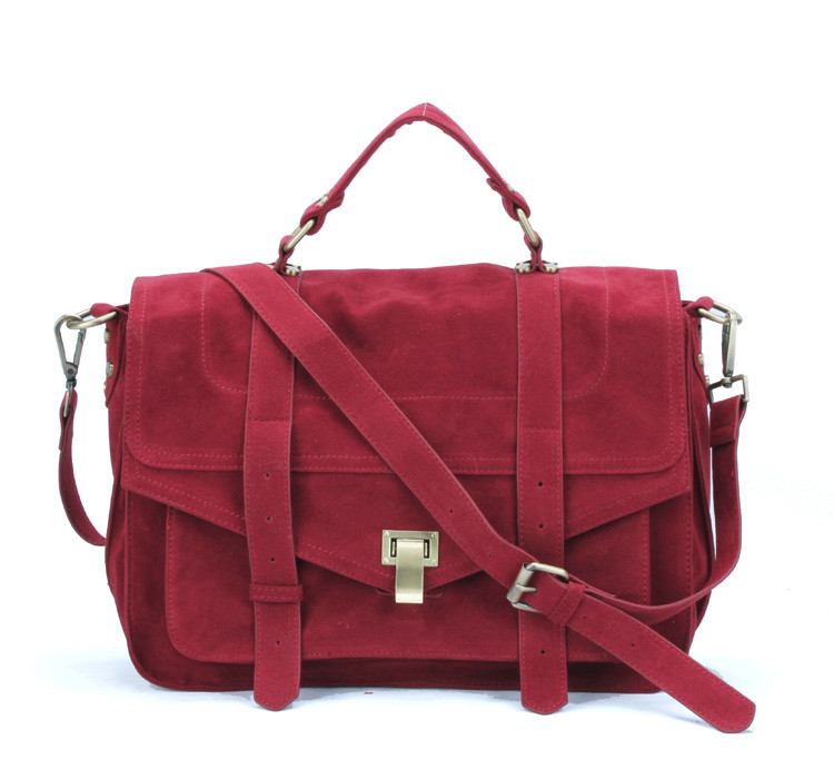 Online Buy Wholesale red suede handbag from China red suede ...