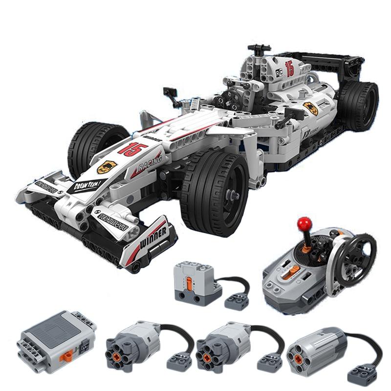 NEW 729pcs Technic MOC F1 Supercars Remote Control RC Racing Car Electric Technic City Building Block