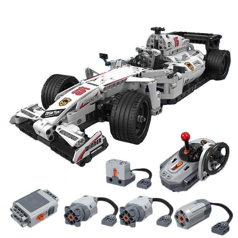 Nouveau 729 pièces Technic MOC F1 Supercars télécommande RC voiture de course électrique technique ville bloc de construction briques enfants modèle bricolage jouets