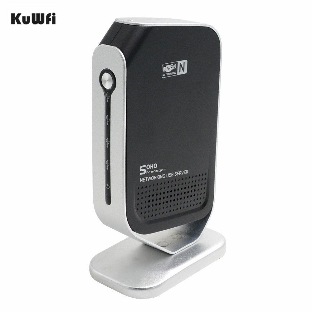 4 Ports USB2.0 serveur d'impression 100 Mbps Points d'accès réseau Fax USB serveur de partage d'impression Stable pour Windows 2000/XP/Vista/7 PC - 2
