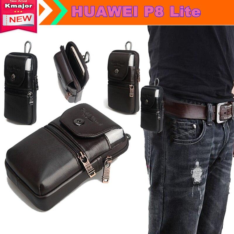 """Пояса из натуральной кожи носить Зажим для ремня Талия мешок кошелек чехол для Huawei P8 Lite 5.0 """"Телефон Сумка Бесплатная Прямая доставка"""