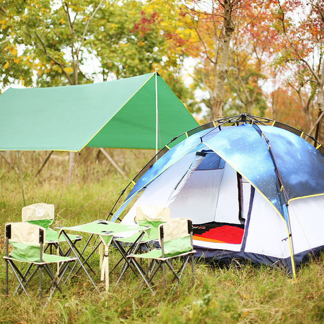 Wnnideo 3-4 people double automatic tent outdoor double multiplayer sky camping tent
