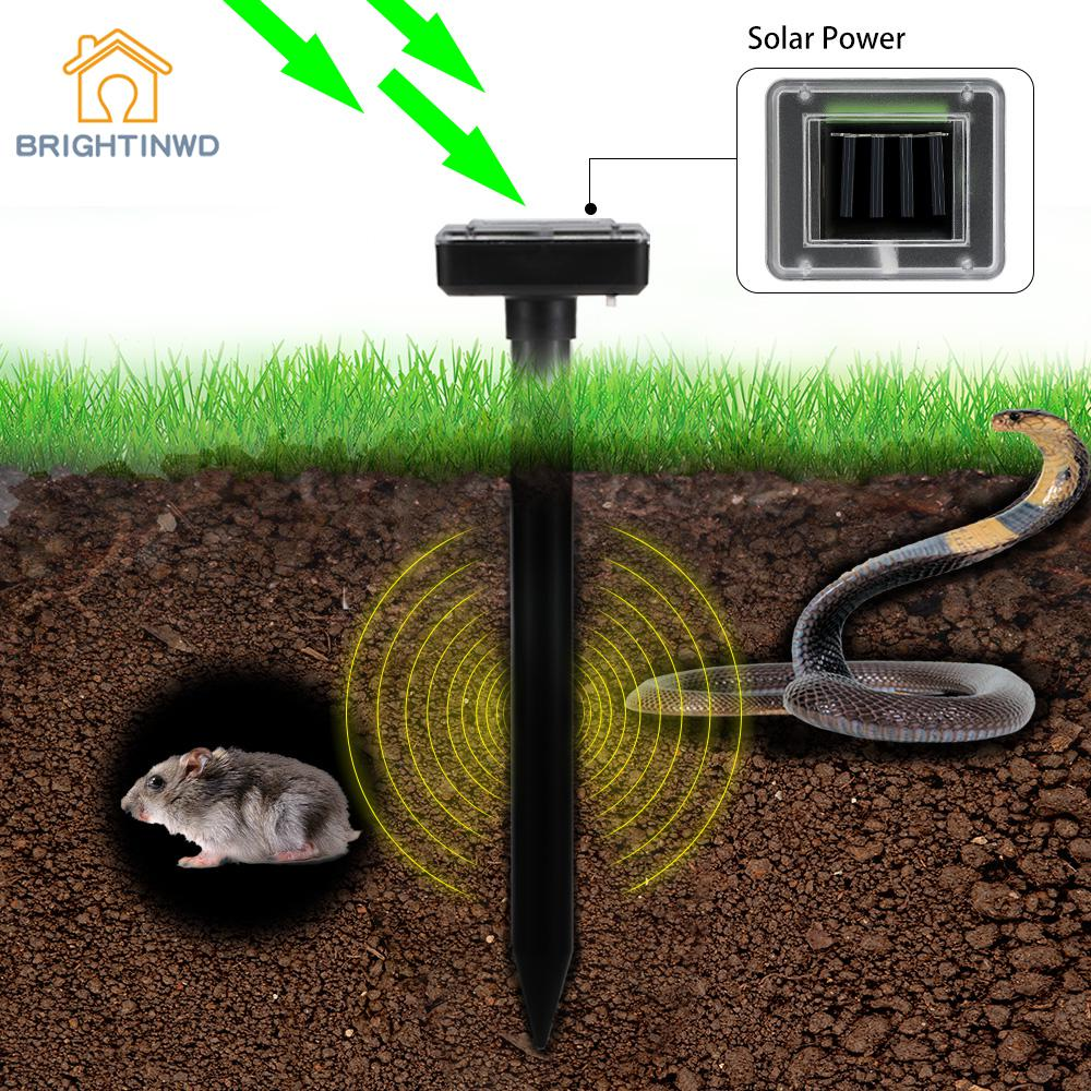 Reject Shop Outdoor Solar Lights: 2Pcs Solar Powered Sound Wave Sonic Repeller Outdoor