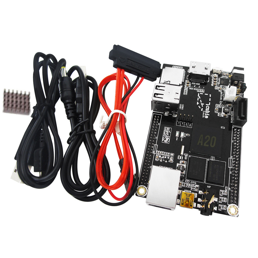 цена на HAILANGNIAO 1pcs PC Cubieboard A20 Dual-core Development Board , Cubieboard2 dual core with 4GB Nand Flash