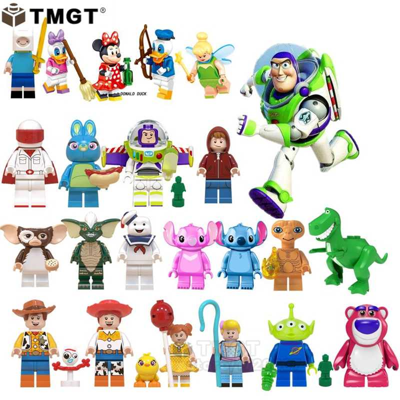 playmobil ghostbusters Stay Puft Building Blocks Stitch Mickey Mouse gremlins E.T Buzz lightyear Toy Story Toys for Children
