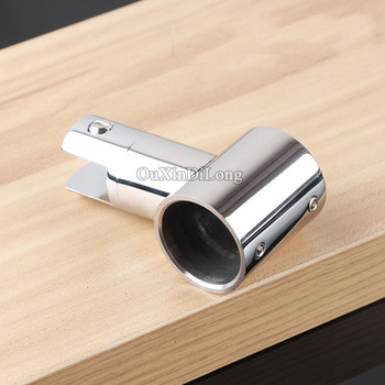 High Quality 4PCS/lot 304 Stainless Steel Shower Bathroom Screen Pipe Top Holder Connect Brackets Diameter 25mm