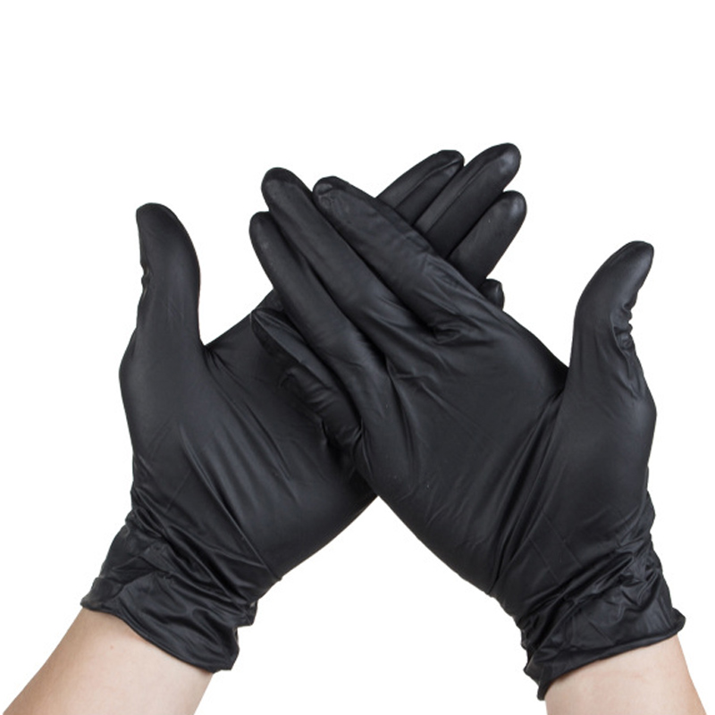 100Pcs Nitrile Disposable Gloves Latex Powder-Free Non-Medical Black Tattoo Gloves
