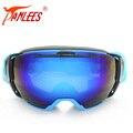 New Продукта PANLEES Большой Размер Анти-Туман с Двумя Объективами Сноуборд goggle солнцезащитные очки Для Взрослых Мужчин или Женщин Orange линзы ночного видения