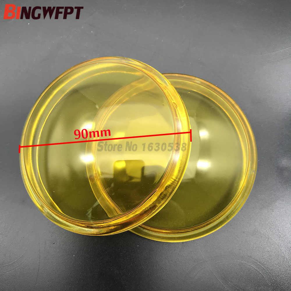 2pcs עגול קוטר 90mm ערפל אורות צהוב אנטי ערפל זכוכית מזג זכוכית עבור סיטרואן C3 C4 C5 c6 C-crosser עצבני קסארה ברלינגו