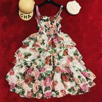 2019 Новое Женское модное ламинированное шелковое платье с принтом 0515