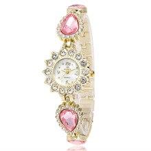 De haute qualité cristal de mode marque de luxe or femmes quartz bracelet montre R154 pierres précieuses robe montres montres reloj mujer