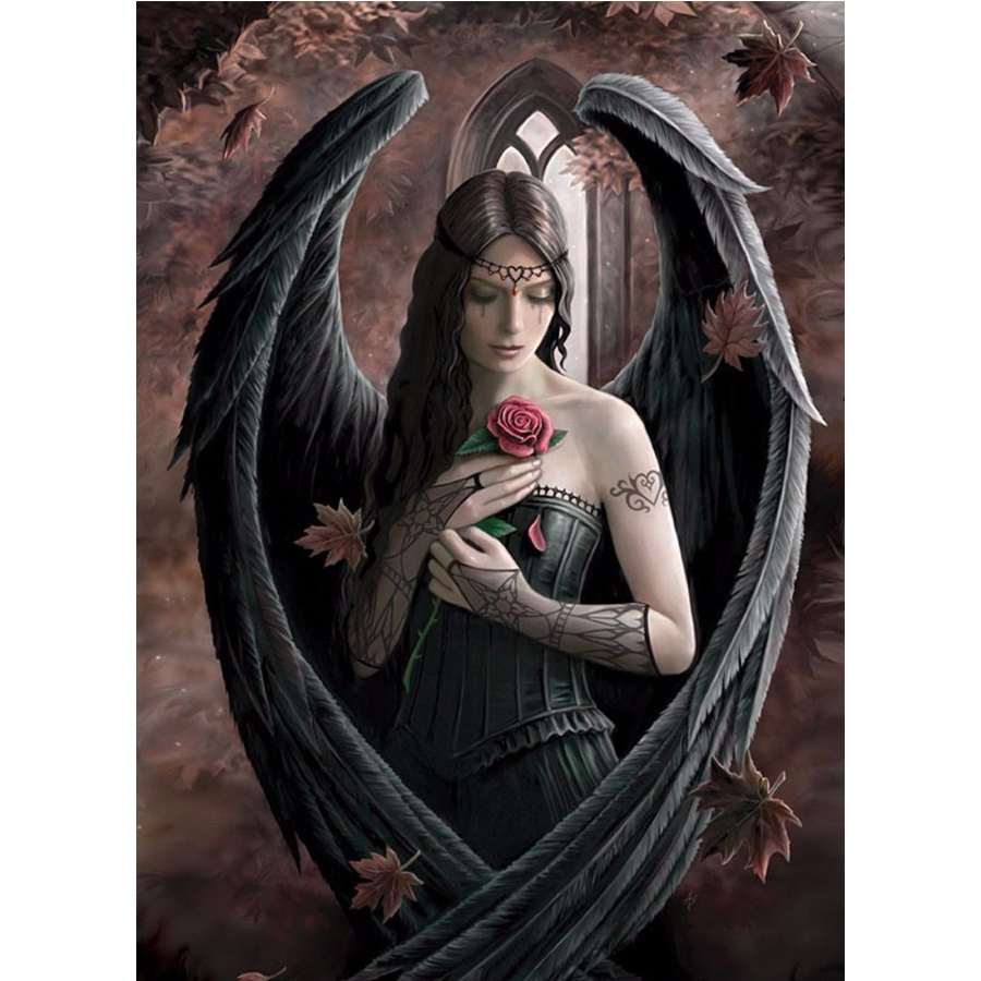 Diy Diamond Painting Cross Stitch Anne Stokes Angel Rose Heroes3D Diamond embroidery Diamond Mosaic Home Decor