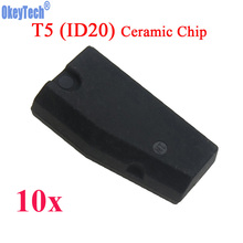 OkeyTech 10pcs/lot ID T5-20 Transponder Chip Blank Carbon T5 Cloneable Chip for Car Key Cemamic T5 Chip Copy to ID 11 12 13 33