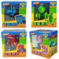 4 pçs/set Grande Gogo Dino Deformação Carro/Avião Figuras de Ação REX Carro/Avião/Submarino/Bulldozer Transformação brinquedos de dinossauros