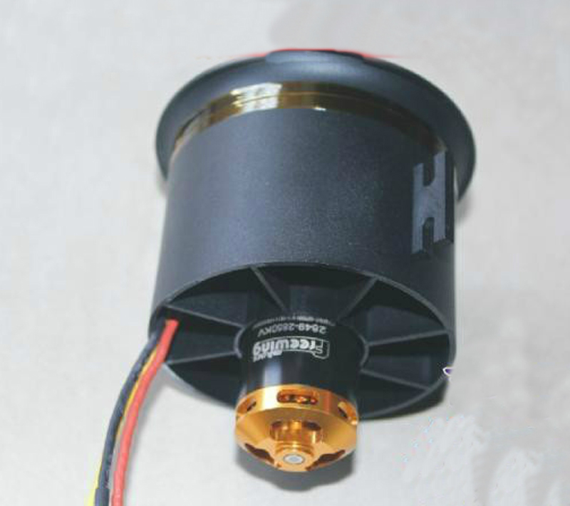 Out-rotor 2850/2150/2300KV 4S 6S 2849/3048 Motor+12-Blade Props 70mm Ducted Fan Power EDF Unit System For RC Jet Airplane image