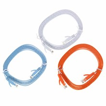 Network Cable 2M RJ45 Flat CAT-6 Ethernet Internet Network LAN Cable Patch Lead Network Wire For PC Router