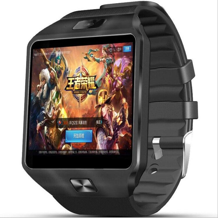 696 3G WIFI QW09 Android montre intelligente Bluetooth 4.0 réel-podomètre carte SIM appel Anti-perte Smartwatch PK DZ09 GT08