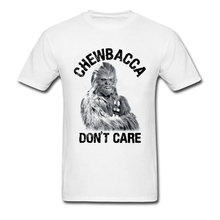 Plus Size Men White Top T-Shirts 3D Print Funny Star Wars Tshirt Chewbacca  Don 7a728e93f