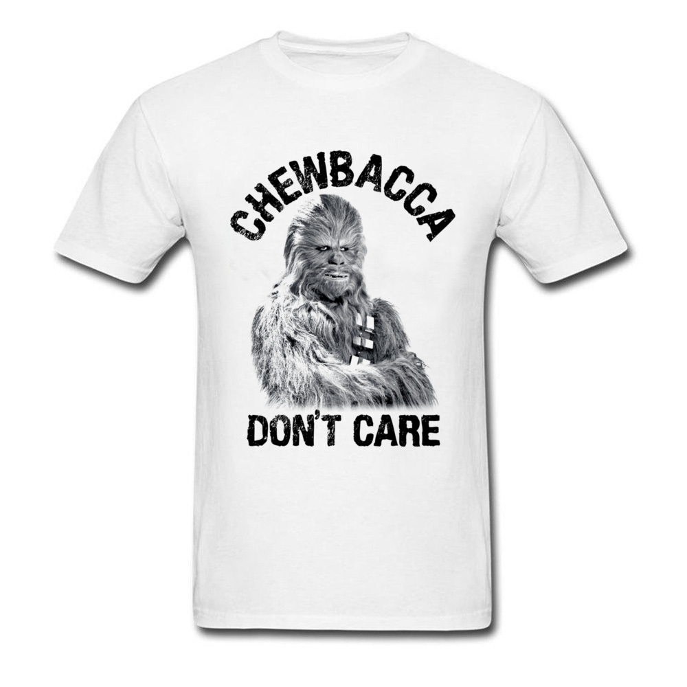 Plus Size Men White Top T-Shirts 3D Print Funny Star Wars Tshirt Chewbacca Dont Care American Movie Game Tee Shirt Brand