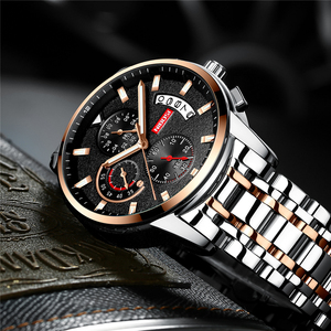 Image 4 - NIBOSI męskie zegarki Relogio Masculino Top marka luksusowe Reloje zegarek mężczyźni moda Sport kwarcowy wodoodporny biznes męski zegar