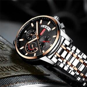 Image 4 - Relojes NIBOSI para hombre, reloj Masculino de marca superior de lujo, reloj deportivo de cuarzo a la moda para hombres, reloj de negocios resistente al agua para hombres